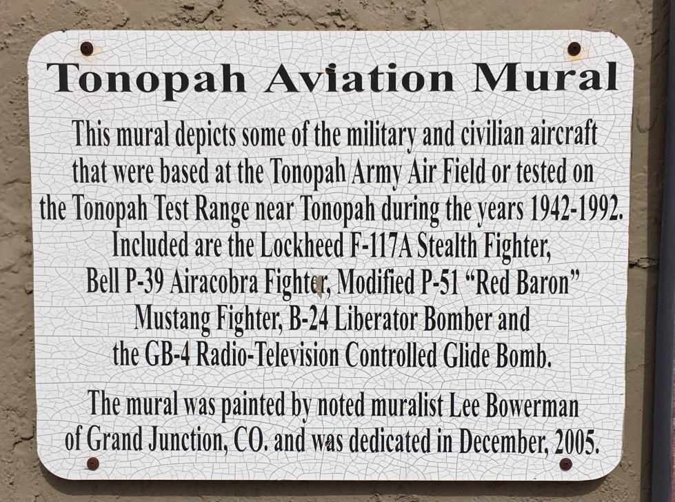 Tonopah. Aviation marker